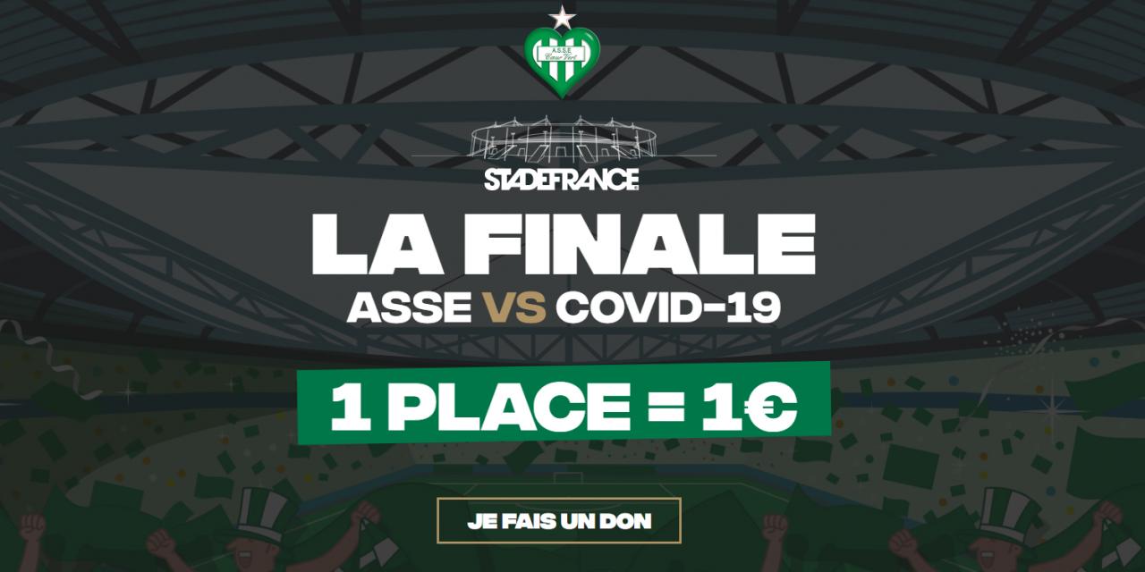 L'AS Saint-Etienne veut remplir le Stade de France pour lutter contre le COVID-19