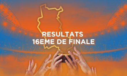 Résultats des 16ème de finale de la Coupe des Clubs de la Loire