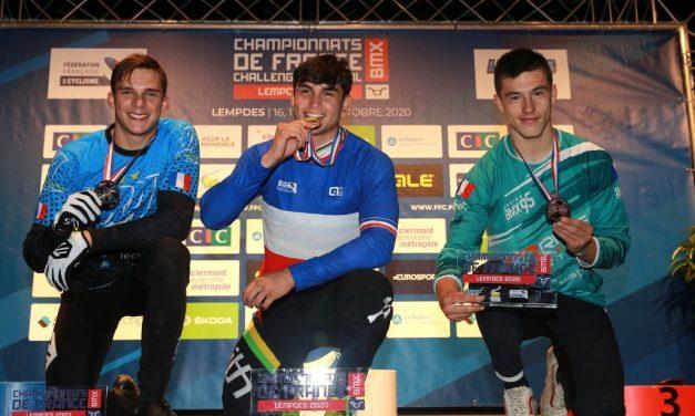BMX : Tatyan Lui-Hin-Tsan sacré Champion de France Junior, Camille Maire en argent